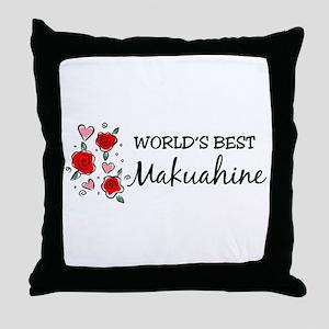 WB Mom [Hawaiian] Throw Pillow